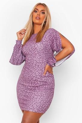 boohoo Leopard Print Bodycon Dress