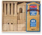 Melissa & Doug Architectural Standard Unit Wooden Blocks