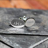 Anna Lou of London Silver Personalised Alphabet Cufflinks