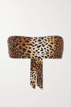 Melissa Odabash Ponza Animal-print Bandeau Bikini Top - Leopard print