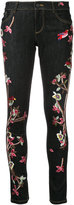 Alice + Olivia Alice+Olivia embroidered slim fit skinny jeans