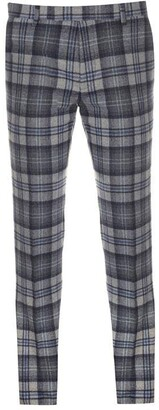 Twisted Tailor Kaufman Tartan Chequered Suit Trousers