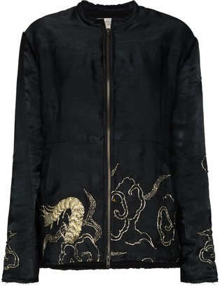 By Walid Embroidered Bomber Jacket