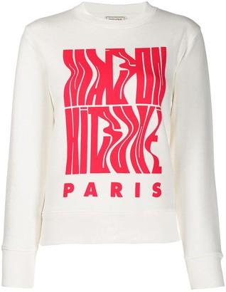 MAISON KITSUNÉ wavy logo sweatshirt