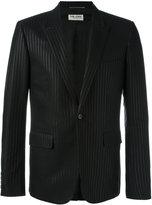 Saint Laurent tonal pinstripe jacket - men - Polyester/Cotton/Silk - 50