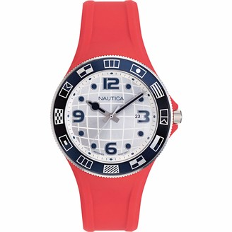 Nautica Men's NAPLBS904 Lummus Beach Black Silicone Strap Watch