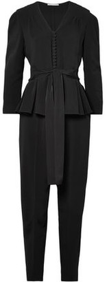 Stella McCartney Draped Cady Peplum Jumpsuit