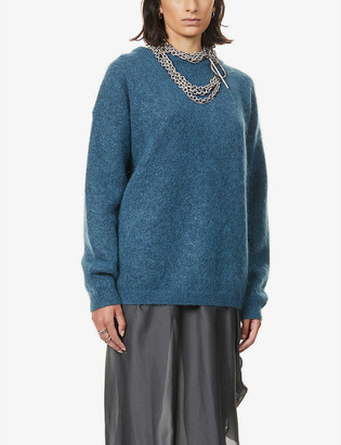 Acne Studios Dramatic slim-fit knitted jumper