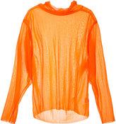 G.V.G.V. sheer jersey high neck top - women - Nylon - 34