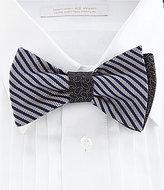 Daniel Cremieux Stripe Pine Silk Bow TIe