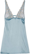 La Perla Clio lace-paneled silk-satin chemise