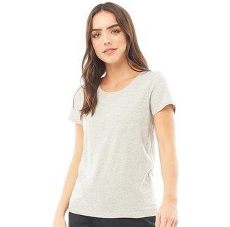 Fluid Womens Basic T-Shirt Grey Marl