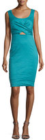 Nicole Miller Talia Sleeveless Sheath Dress W/Cutout, New Lagoon