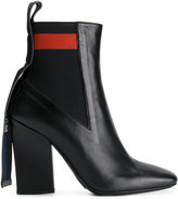MSGM stretch panel ankle boots - women - Calf Leather/Leather - 36