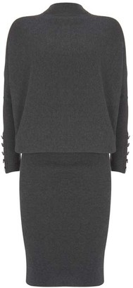 Mint Velvet Grey Button Jumper Dress