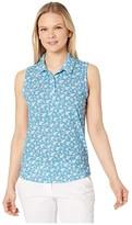 Puma Flight Sleeveless Polo (Ethereal Blue) Women's Clothing