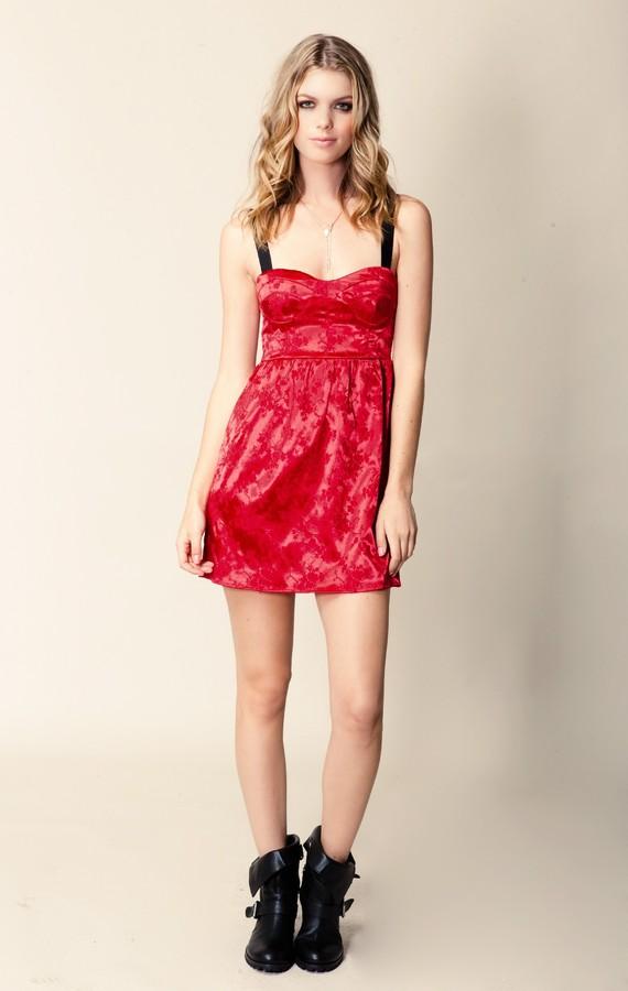 Blu Moon Cross Back Bustier Dress