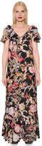 I'M Isola Marras Floral Printed Light Crepe Dress