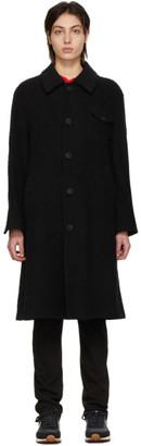 Undercover Black Long Terrycloth Coat
