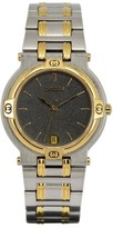 Gucci 9000M Stainless Steel & Gold Plated 32mm Mens Watch