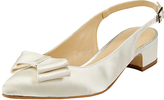 John Lewis Brooke Bow Sling Back Court Shoes, Ivory