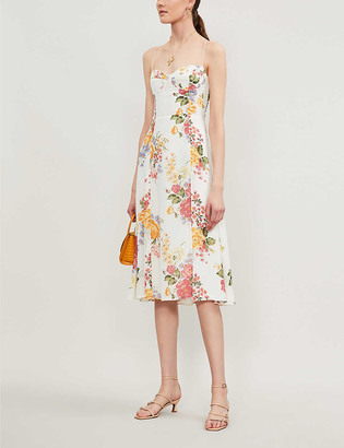 Reformation Juliette floral-print crepe midi dress