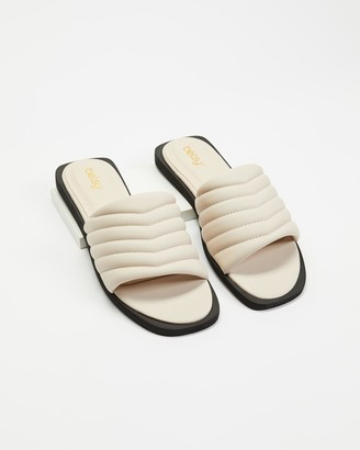 Betsy - Women's Neutrals Flat Sandals - Padded Slides - Size 38 at The Iconic