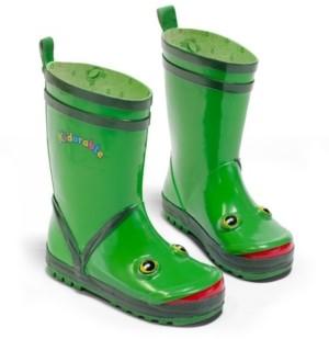 Kidorable Big Kids Boy Natural Rubber Frog Rain Boots