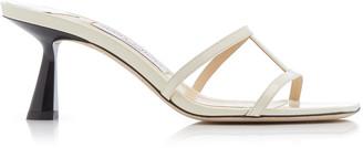 Jimmy Choo Ria Two-Tone Leather Sandals