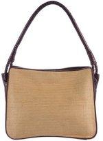 Bottega Veneta Leather-Trimmed Jute Shoulder Bag