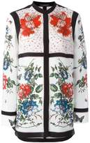 Alexander McQueen floral tablecloth print blouse