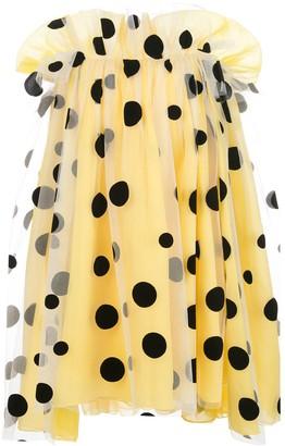 Carolina Herrera Off-Shoulder Cape Dress