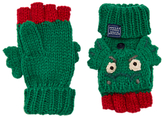 Joules Little Joule Children's Dragon Character Mittens, Green/Red
