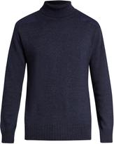 Blue Blue Japan Patch-shoulder roll-neck sweater