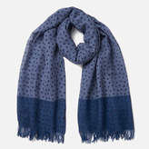 Ps By Paul Smith Polka Melange Scarf Blue
