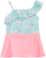 Carter's 1-Pc. Flamingo-Print Swimsuit with Sarong, Toddler & Little Girls (2T-6X)