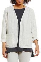 Eileen Fisher Petites Kimono Bracelet Sleeve Jacket