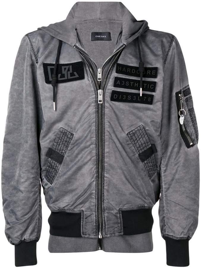 Diesel inserts detail bomber jacket