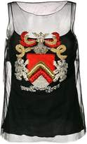 Alberta Ferretti embroidered cami top