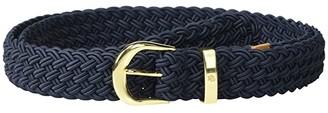 Lauren Ralph Lauren Classic Elastic Braid Casual Medium (Lauren Navy) Women's Belts