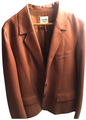Hermes Camel Leather Jackets
