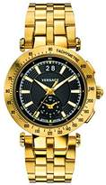 Versace Men's 'V-Race' Swiss Quartz Stainless Steel Casual Watch, Color:Gold-Toned (Model: VAH070016)