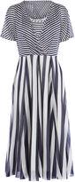 Karen Millen Striped Fluid Dress - Blue/multi