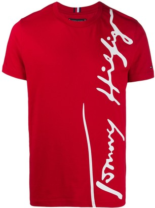 Tommy Hilfiger Large Signature print T-shirt