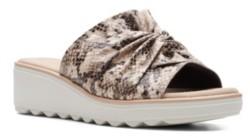 Clarks Collection Women's Jillian Leap Wedge Sandals Women's Shoes