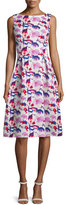 Rickie Freeman For Teri Jon Sleeveless Floral Midi Dress, Multi