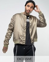 Puma Luxe Bomber Jacket In Khaki Exclusive To ASOS