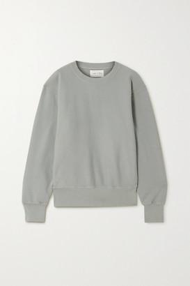 LES TIEN Cotton-jersey Sweatshirt - Gray