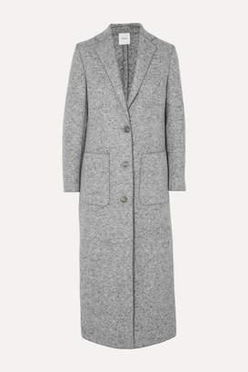 Agnona Mélange Wool Coat - Dark gray