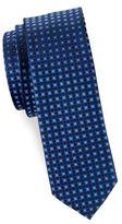 HUGO BOSS Square Print Silk Tie